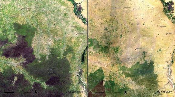 Las Baban Rafi w Nigerze w 1976 i 2007 roku