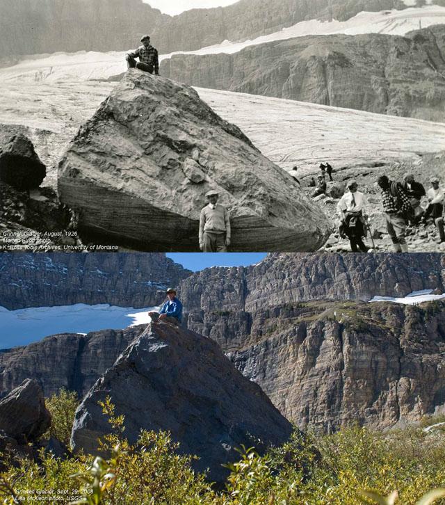 Grinnell Glacier w 1926 i 2008 roku