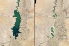 Jezioro Elephant Butte w Meksyku w 1994 i 2013 roku