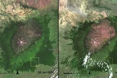 Mount Kenya Forest w 1976 i 2007 roku