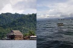 Archipelag San Blas w Panamie w 2002 i 2014 roku