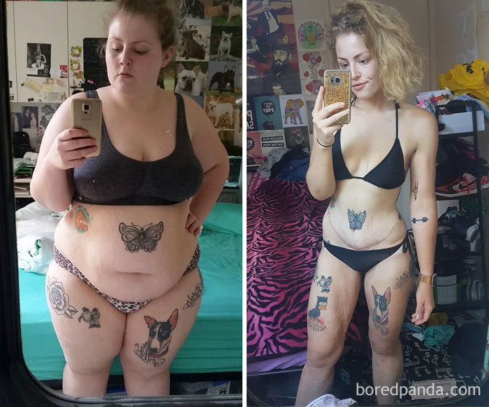 69 kg mniej