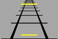 Żółte paski są tej samej długości...